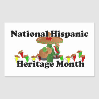 National Hispanic Heritage Month - Guitar Rectangle Stickers