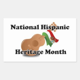 National Hispanic Heritage Month - Guitar Rectangular Sticker