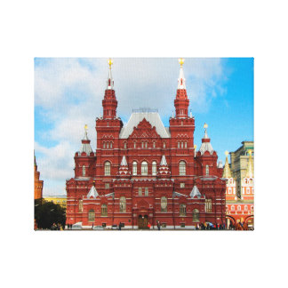 National Historical Museum, Red Square, Moscow Canvas Print