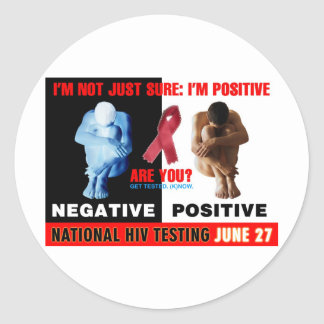 National HIV Testing Day Classic Round Sticker