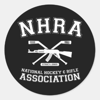 National Hockey and Rifle Association Classic Round Sticker