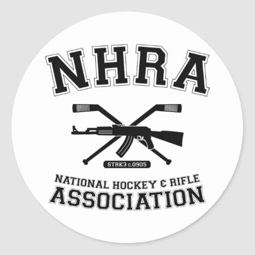 National Hockey and Rifle Association Round Stickers