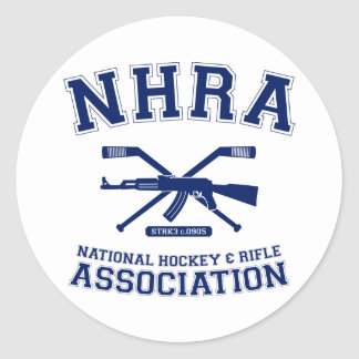 National Hockey and Rifle Association Classic Round Sticker