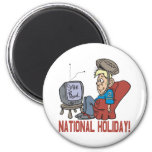 National Holiday 2 Inch Round Magnet