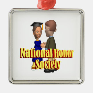 National Honor Society Metal Ornament