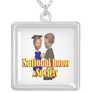 National Honor Society Square Pendant Necklace