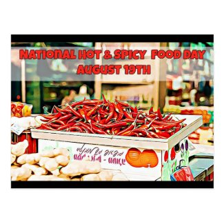 National Hot and Spicy Food Day Holidays Postcard