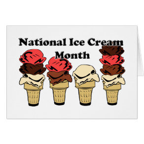 National Ice Cream Month Card
