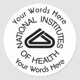 National Institute of Health Custom Sticker