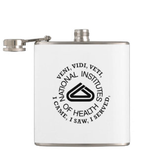 National Institute of Health VVV Shield Hip Flask