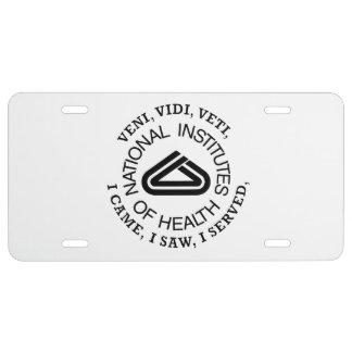 National Institute of Health VVV Shield License Plate