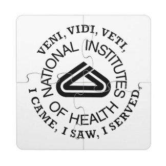 National Institute of Health VVV Shield Puzzle Coaster
