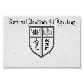 National Institute Of Theology Logo Poster