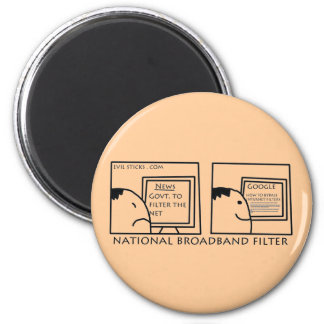 National Internet Filter 2 Inch Round Magnet