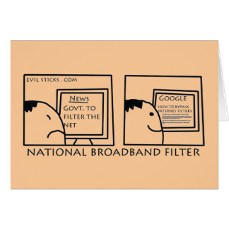 National Internet Filter Greeting Card