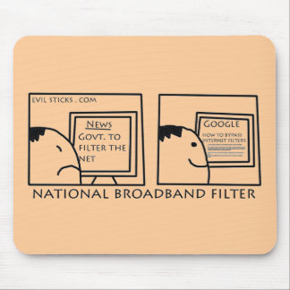 National Internet Filter Mouse Pad