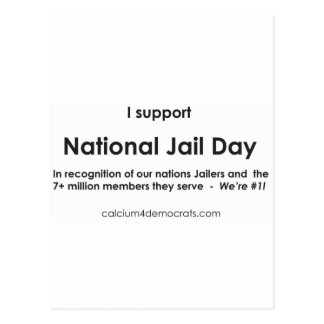 National Jail Day Postcard