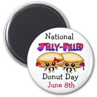 National Jelly-Filled Donut Day Magnet