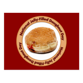 National Jelly-Filled Doughnut Day Postcard
