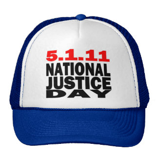NATIONAL JUSTICE DAY 5/1/2011 MESH HAT