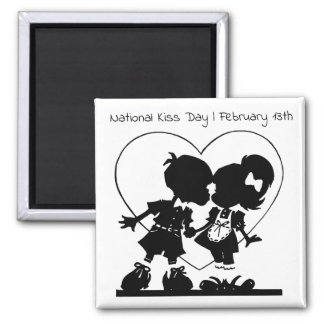 National Kiss Day February 13th Holiday Magnet