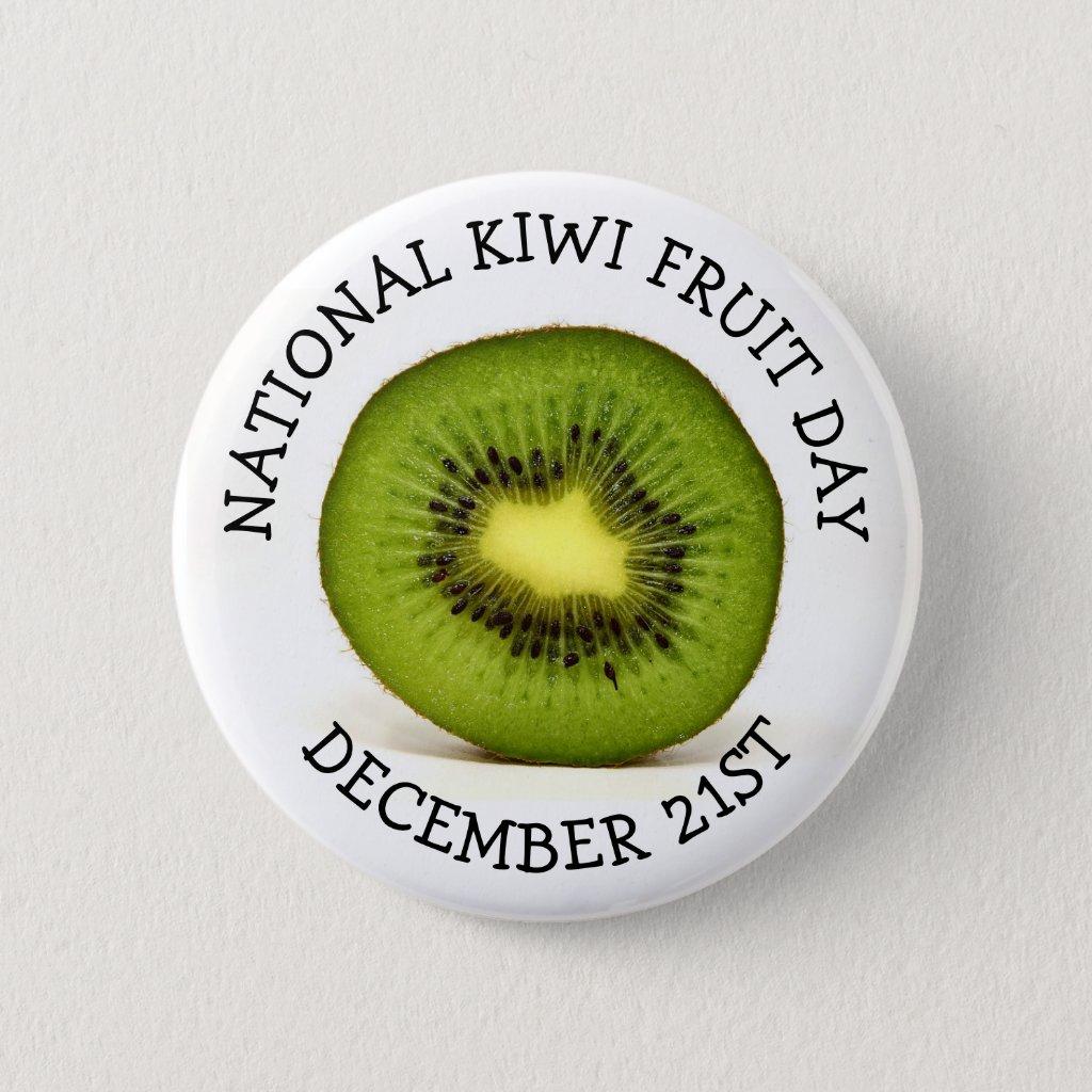 National Kiwi Fruit Day Button