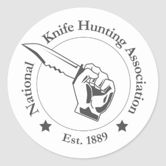 National Knife Hunting Association - Stickers! Classic Round Sticker