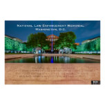 National Law Enforcement Memorial - Thin Blue Line Posters