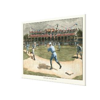 National League Baseball Game 1886 Canvas Print