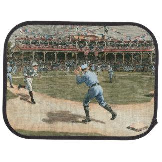 National League Baseball Game 1886 Car Floor Mat