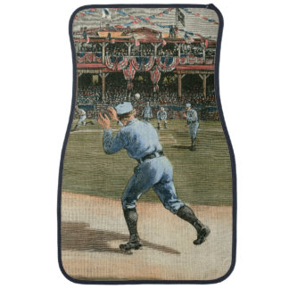 National League Baseball Game 1886 Car Mat