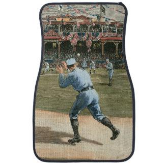 National League Baseball Game 1886 Floor Mat