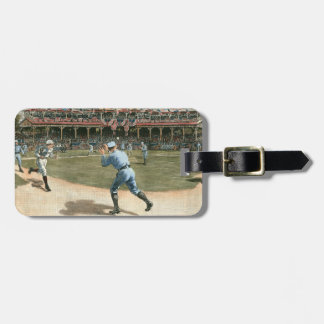 National League Baseball Game 1886 Luggage Tag