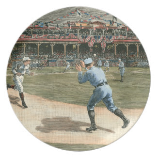 National League Baseball Game 1886 Melamine Plate