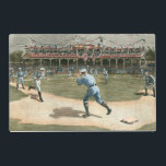 """National League Baseball Game 1886 Placemat<br><div class=""""desc"""">Painting of a National League baseball game from 1886. You can practically smell the peanuts,  popcorn and dust of the infield emanating from this piece. This would make a great addition to your home!</div>"""