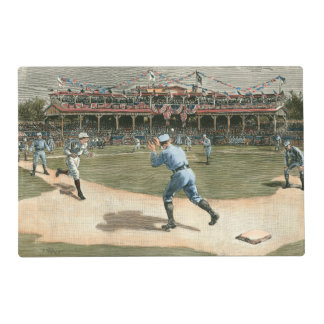 National League Baseball Game 1886 Placemat