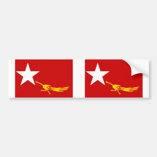 National League For Democracy, Myanmar flag Bumper Sticker