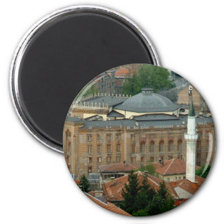 National Library 2 Inch Round Magnet