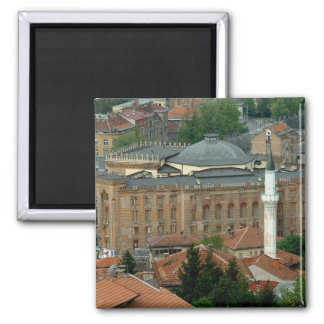 National Library 2 Inch Square Magnet