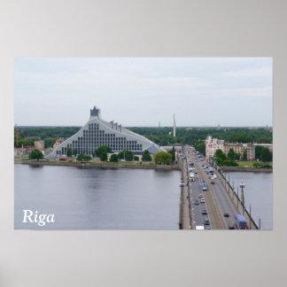 National Library of Latvia, Riga Poster