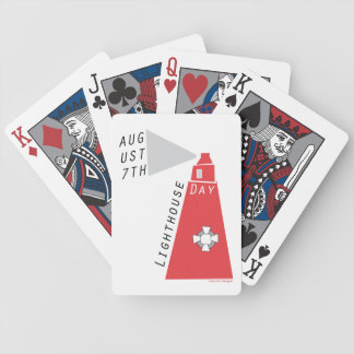 National Lighthouse Day Bicycle Playing Cards