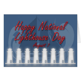 National Lighthouse Day Card August 7