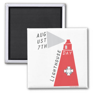 National Lighthouse Day Refrigerator Magnets
