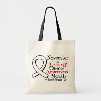 National Lung Cancer Awareness Month Budget Tote Bag