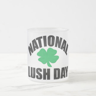National Lush Day Frosted Glass Coffee Mug