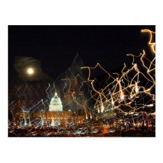 National Mall celebrating holiday photo Postcard