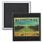 National Mall Washington D.C. 2 Inch Square Magnet