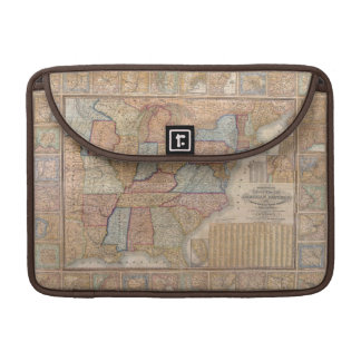 National Map of the American Republic, 1845 MacBook Pro Sleeve