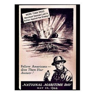 National Maritime Day Postcard