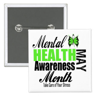 National Mental Health Awareness Month 2 Inch Square Button